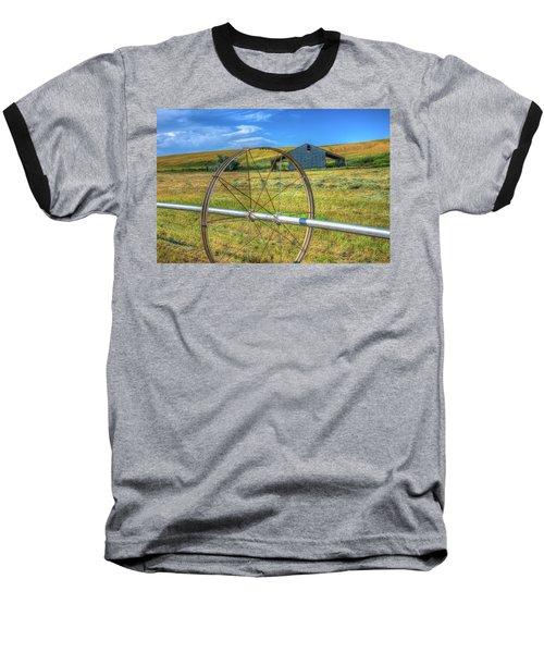 Irrigation Water Wheel Hdr Baseball T-Shirt by James Hammond