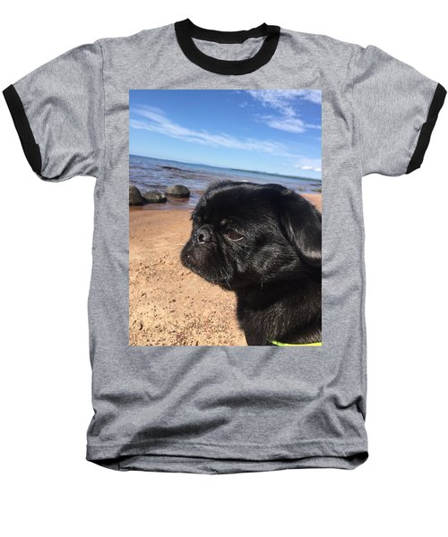 Is This My Good Side? Baseball T-Shirt by Paula Brown
