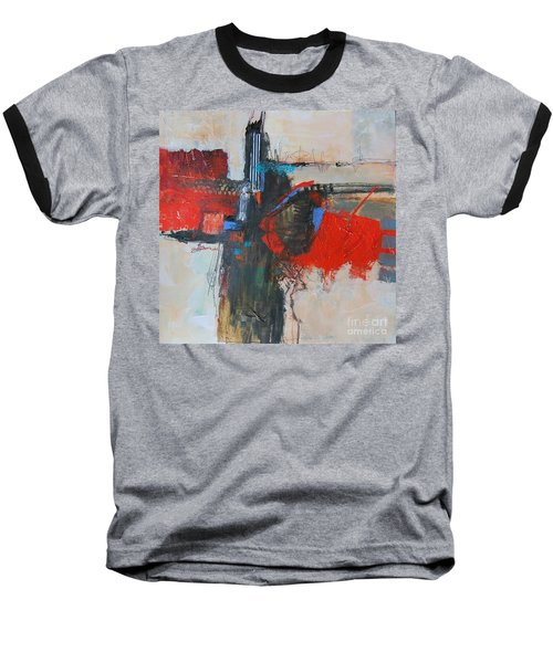 Baseball T-Shirt featuring the painting Is This The Way Out? by Ron Stephens