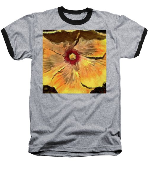 Baseball T-Shirt featuring the mixed media Isabella by Trish Tritz