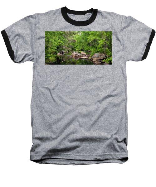 Isinglass River, Barrington, Nh Baseball T-Shirt by Betty Denise