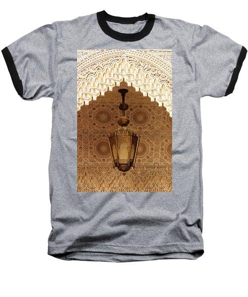 Islamic Plasterwork Baseball T-Shirt by Ralph A  Ledergerber-Photography