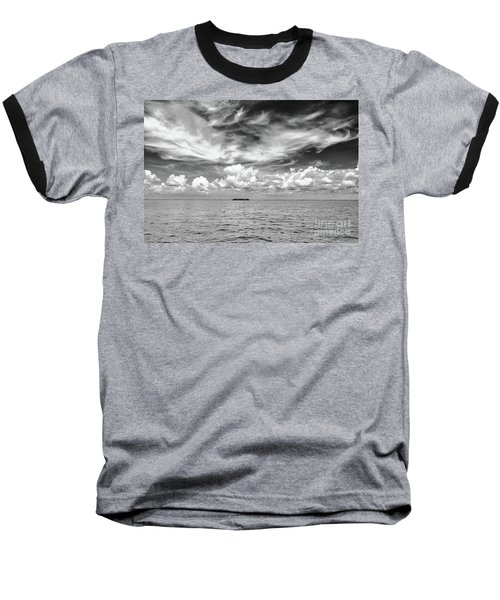 Island, Clouds, Sky, Water Baseball T-Shirt