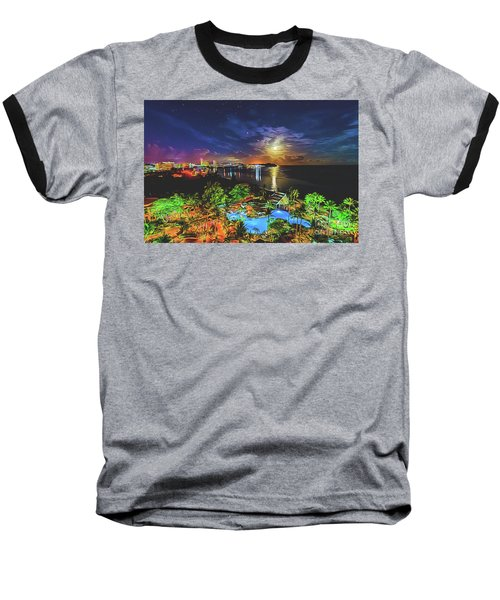 Baseball T-Shirt featuring the digital art Island Dream by Ray Shiu