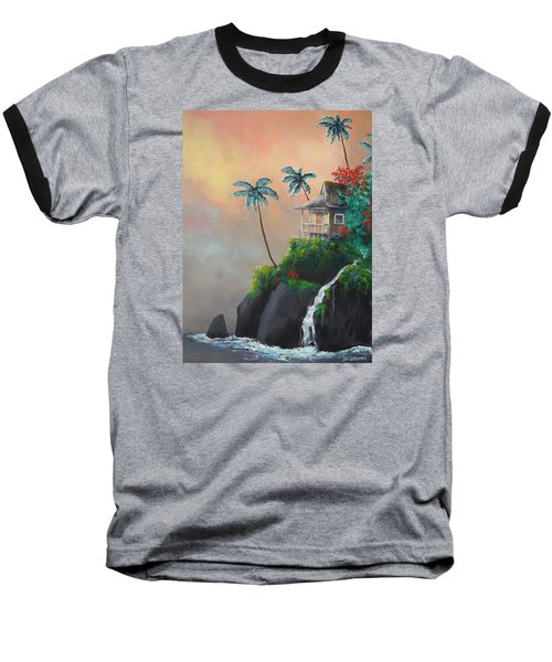 Baseball T-Shirt featuring the painting Island Getaway by Dan Whittemore