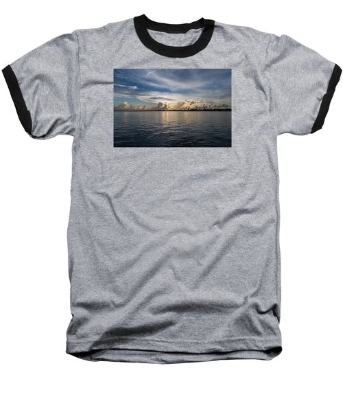 Island Horizon Baseball T-Shirt by Christopher L Thomley