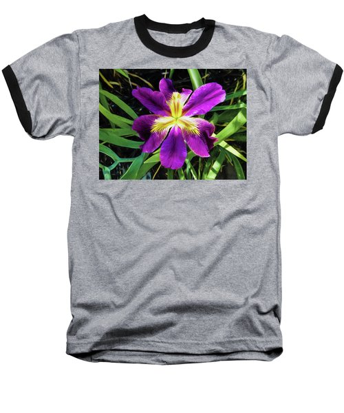 Island Iris 2 Baseball T-Shirt by Penny Lisowski