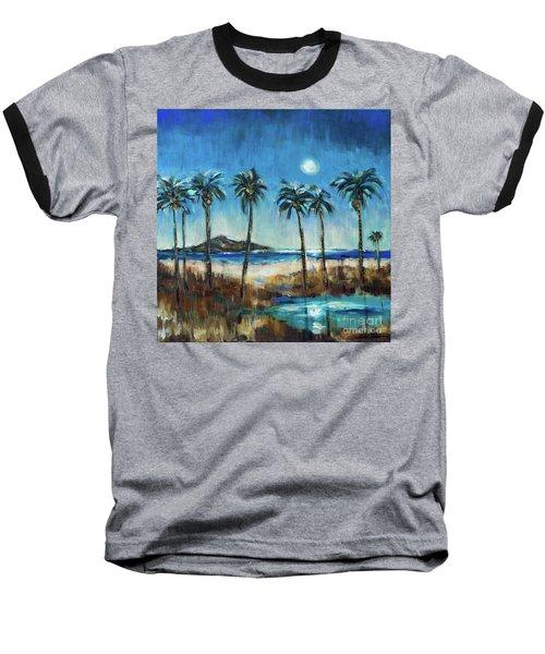 Island Lagoon At Night Baseball T-Shirt