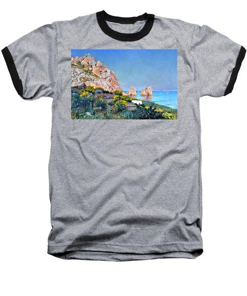 Island Of Capri - Gulf Of Naples Baseball T-Shirt