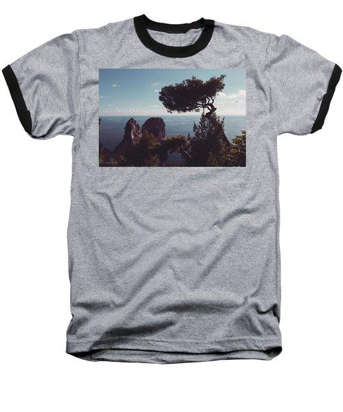 Island Of Capri - Italy Baseball T-Shirt by Cesare Bargiggia