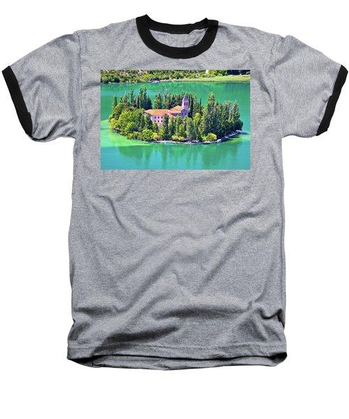 Island Of Visovac Monastery In Krka  Baseball T-Shirt