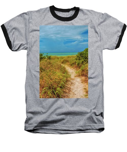 Island Path Baseball T-Shirt by Swank Photography