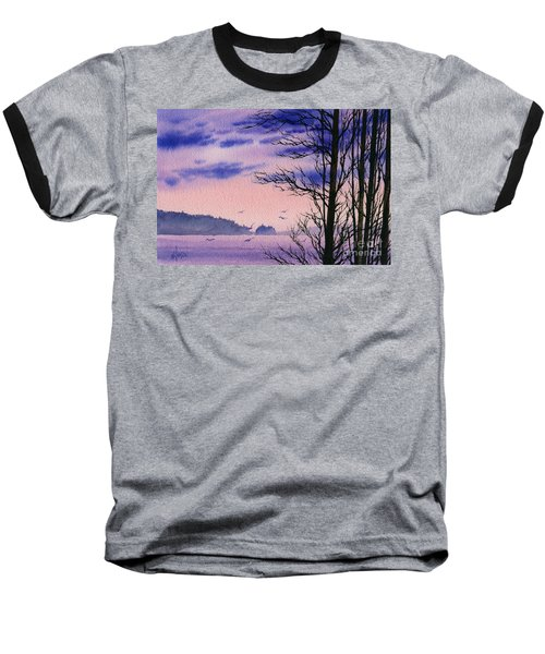 Baseball T-Shirt featuring the painting Island Point by James Williamson