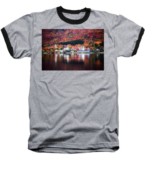 Island Pond Vermont Baseball T-Shirt by Sherman Perry