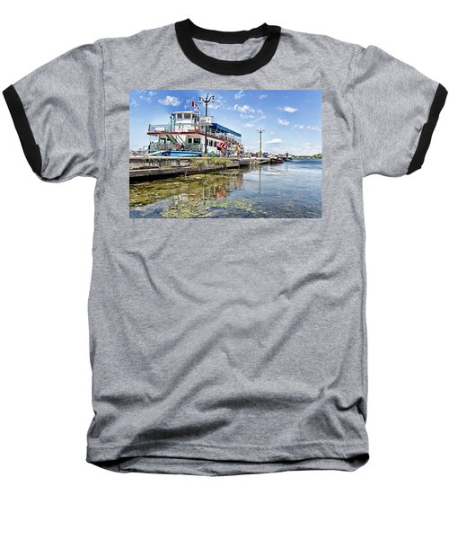 Island Princess At Harbour Dock Baseball T-Shirt