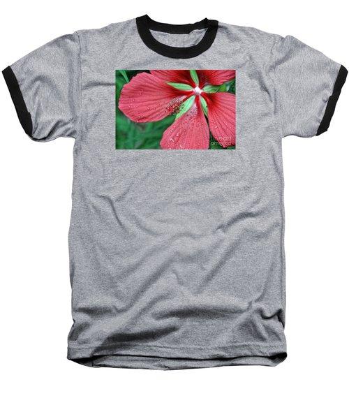 Island Red Baseball T-Shirt by Gina Savage