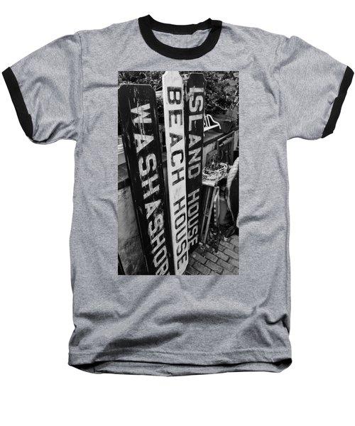 Island Signage Baseball T-Shirt