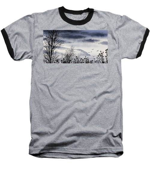 Baseball T-Shirt featuring the painting Island Solitude by James Williamson