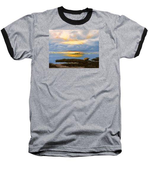 Island Sunset Baseball T-Shirt by Rick McKinney