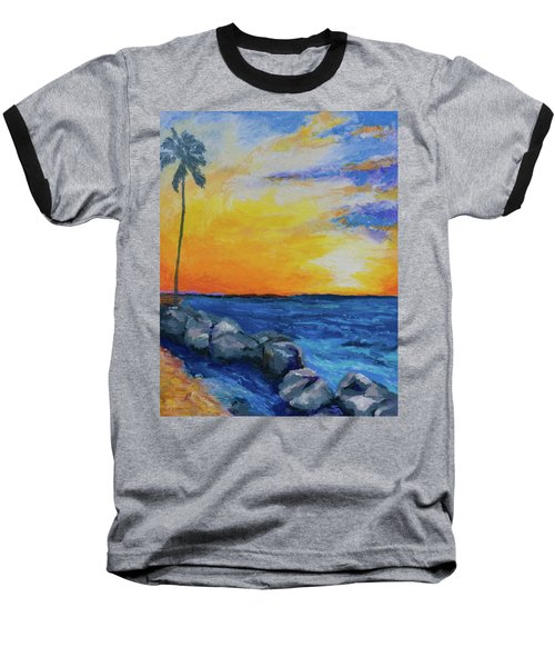 Island Time Baseball T-Shirt by Stephen Anderson