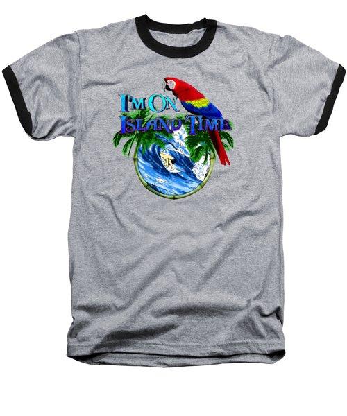 Island Time Surfing Baseball T-Shirt by Chris MacDonald