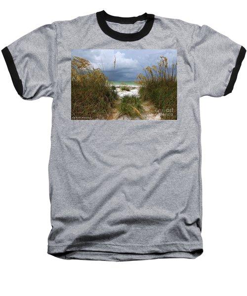 Island Trail Out To The Beach Baseball T-Shirt