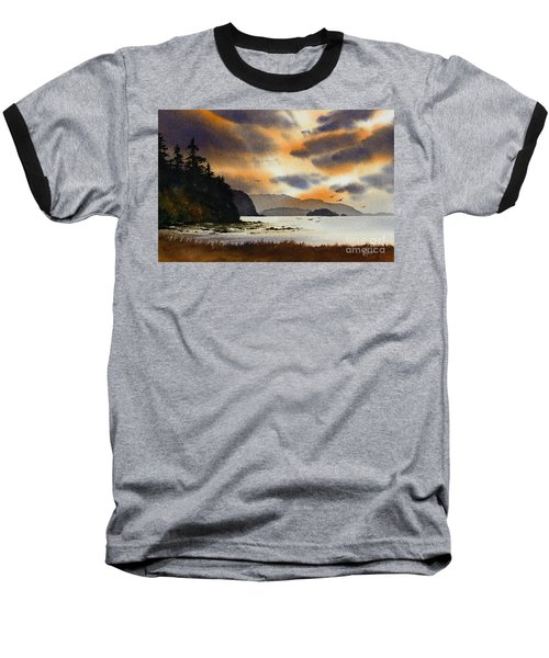 Baseball T-Shirt featuring the painting Islands Autumn Sky by James Williamson