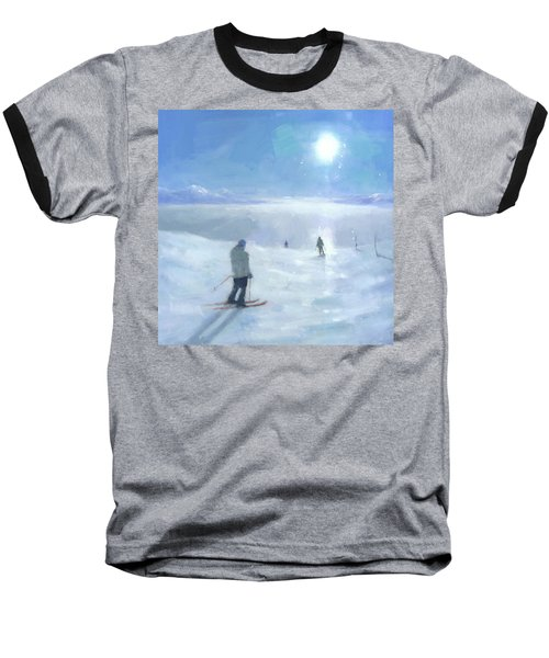 Islands In The Cloud Baseball T-Shirt by Steve Mitchell