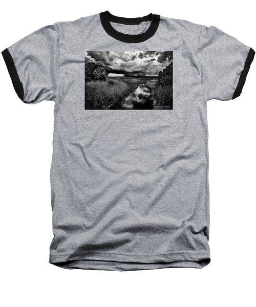 Isolated Shower - Bw Baseball T-Shirt by Christopher Holmes