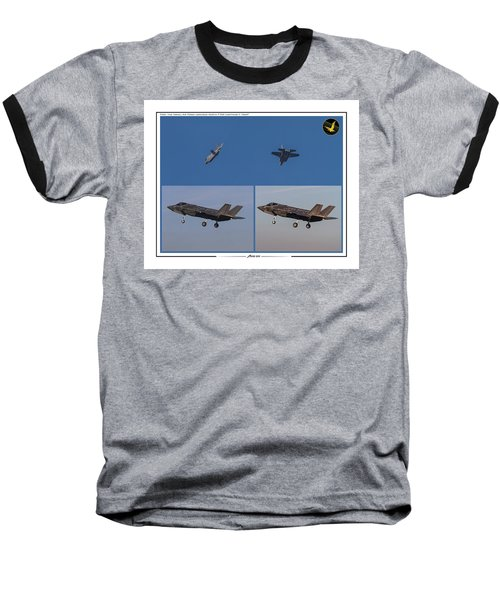 Israeli Air Force First Two F-35i Adir Baseball T-Shirt