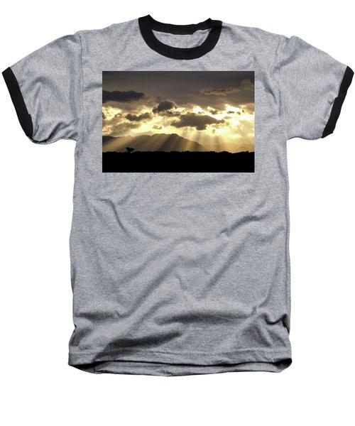 Israeli Desert Sunrise At Timna Baseball T-Shirt by Yoel Koskas