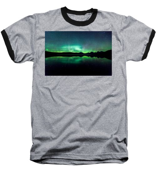Baseball T-Shirt featuring the photograph Iss Aurora by Aaron Aldrich
