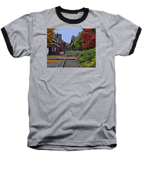 Baseball T-Shirt featuring the photograph Issaquah Train Station by Kirt Tisdale