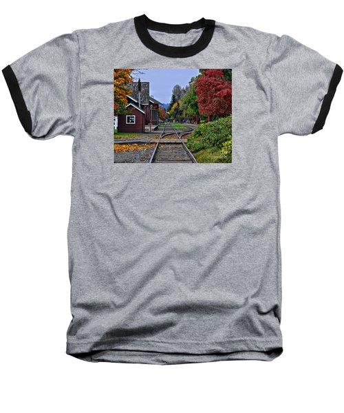 Issaquah Train Station Baseball T-Shirt