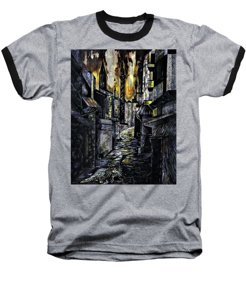 Istanbul Impressions. Lost In The City. Baseball T-Shirt