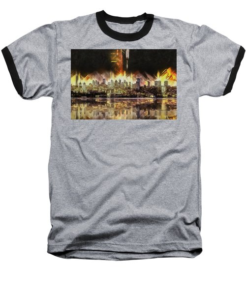 Istanbul In My Mind Baseball T-Shirt by Kai Saarto
