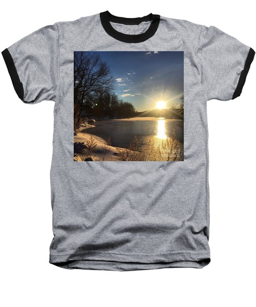 iSunset Baseball T-Shirt by Jason Nicholas