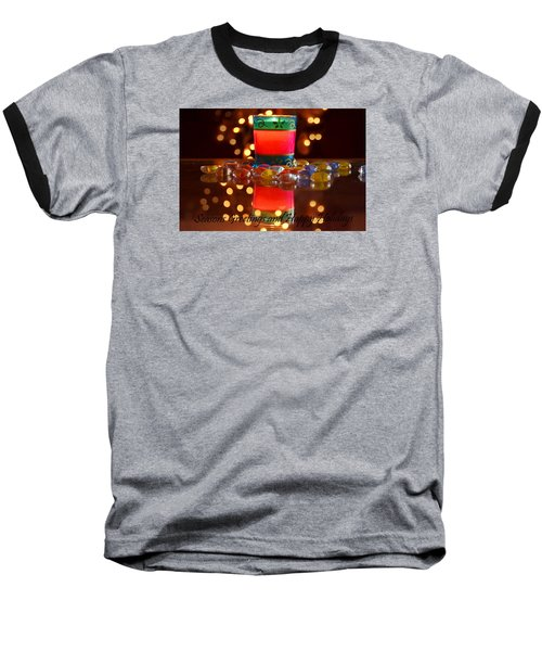 Baseball T-Shirt featuring the photograph It Feels Like Christmas by Rima Biswas