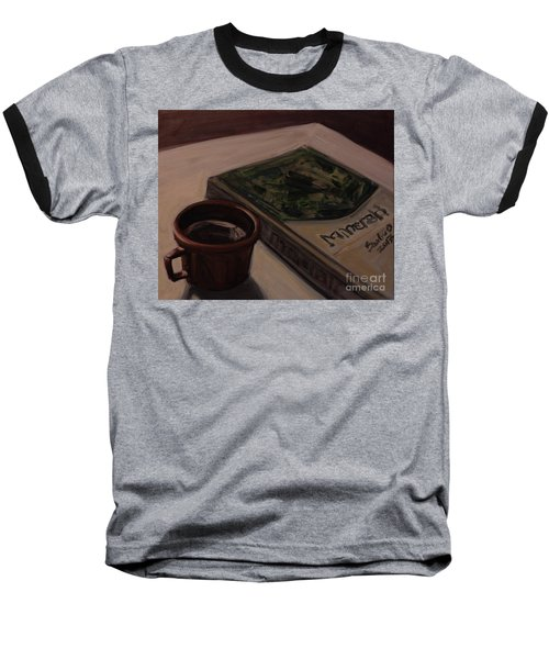 Baseball T-Shirt featuring the painting It Is Coffee Time by Olimpia - Hinamatsuri Barbu