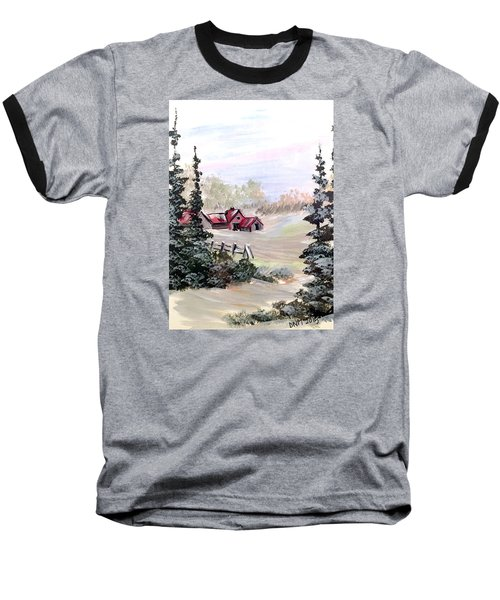 Baseball T-Shirt featuring the painting It Is Winter - 3 by Dorothy Maier