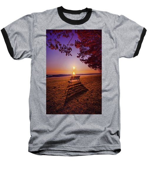 Baseball T-Shirt featuring the photograph It Is Words With You I Seek by Phil Koch