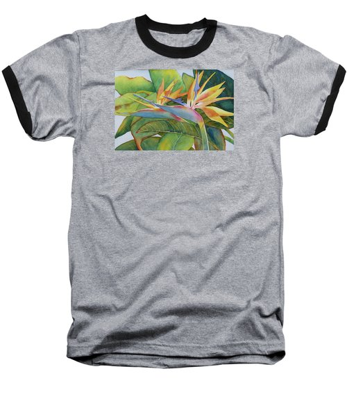 Baseball T-Shirt featuring the painting It Takes Two by Judy Mercer