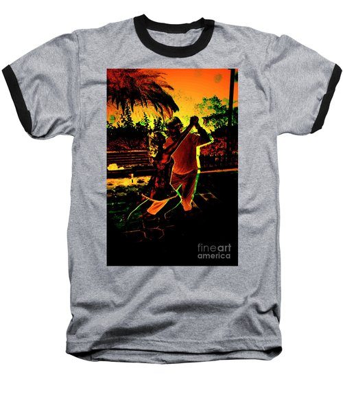 Baseball T-Shirt featuring the photograph It Takes Two To Tango by Al Bourassa