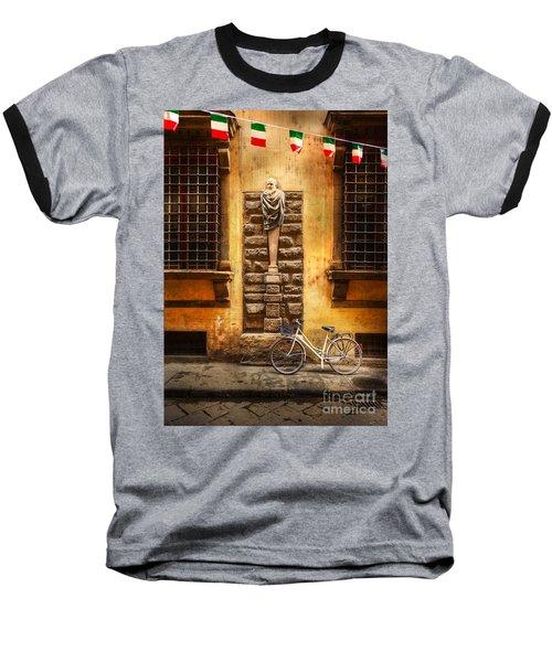 Italia Cential Bicycle Baseball T-Shirt by Craig J Satterlee