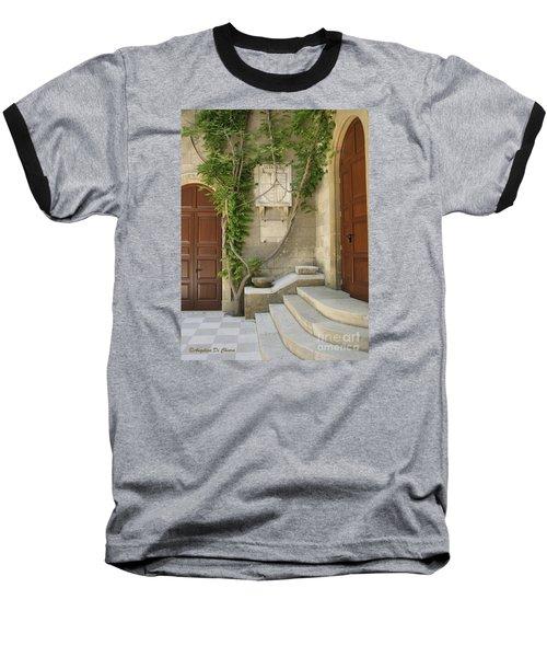 Italian Courtyard- Brindisi Baseball T-Shirt