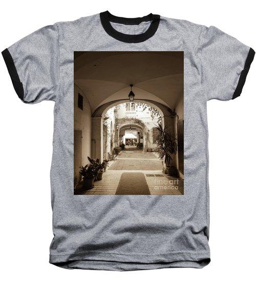 Italian Courtyard  Baseball T-Shirt