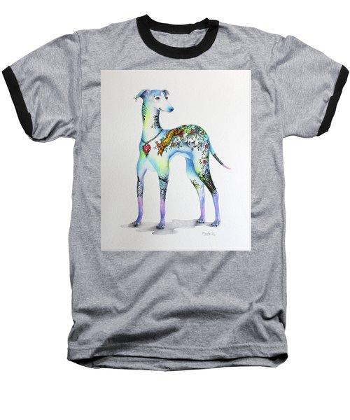 Italian Greyhound Tattoo Dog Baseball T-Shirt by Patricia Lintner