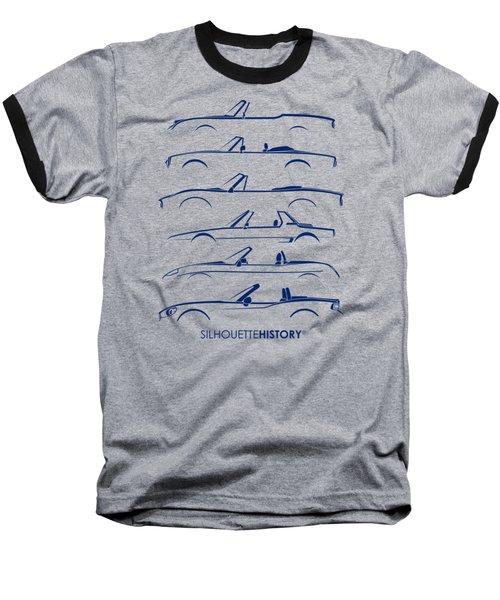 Italian Roadster Silhouettehistory Baseball T-Shirt