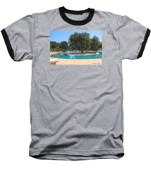Italy Resort- Olive Tree In Pool Baseball T-Shirt