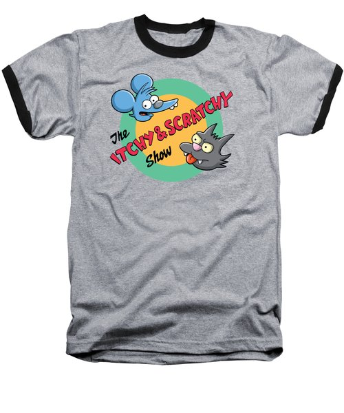 Itchy And Scratchy Baseball T-Shirt by Ian  King